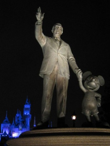 Walt Disney and Mickey Mouse (Photo:Tim Jones at Disneyland, Anaheim)