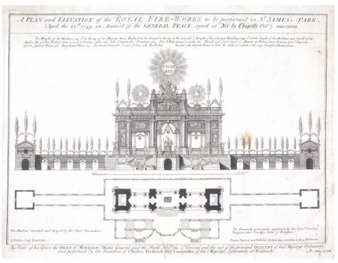Giovanni Niccolo Servandoni's Firework Machine in Green Park 1749