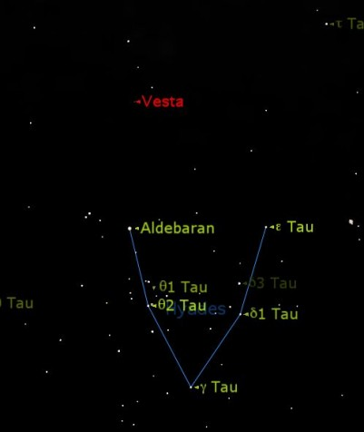 Vesta location 29/12/2012 (Starry Night software)
