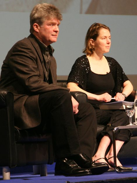 James Moore & Olivia Judson at Imperial College (photo Tim Jones)