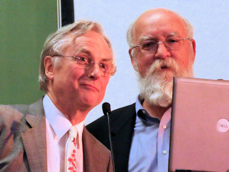 Daniel Dennett with Richard Dawkins at Conway Hall (photo Tim Jones)