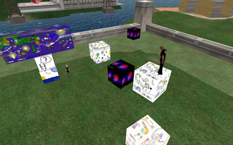 Exquisite Corpse in Second Life (building the 3D 'fly around' wall)