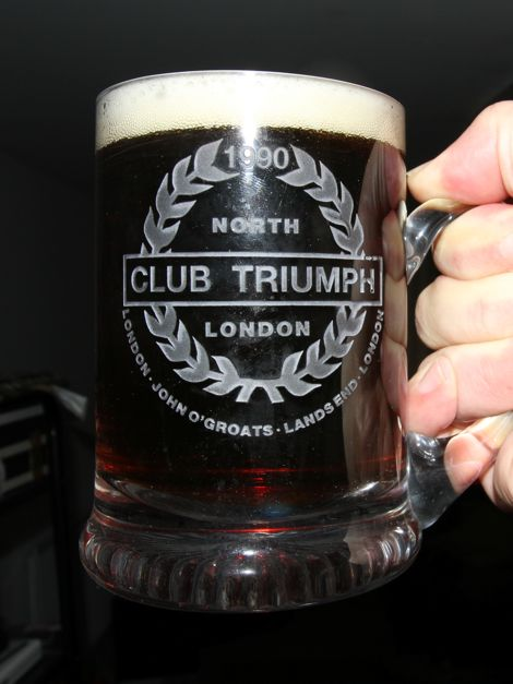 Club Triumph Round Britain Beer Mug