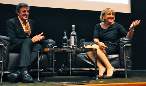 Stephen Fry and Lisa Jardine