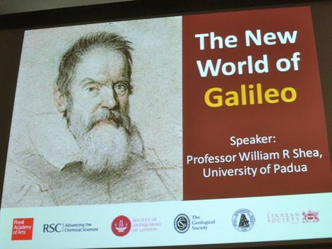 The New World of Galileo, at the Geological Society, Burlington House (London)
