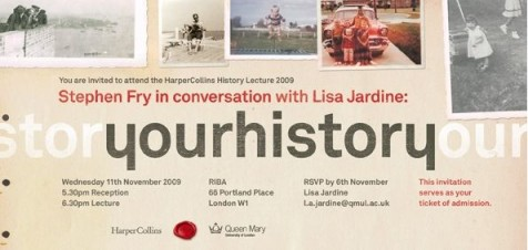 Ticket for Stephen Fry Lisa Jardine Harper Collins event