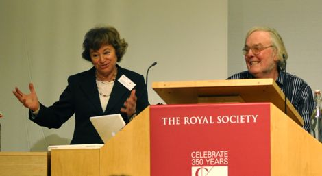 Dr Catherine Cesarsky and Prof. Colin Pillinger