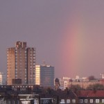 Rainbow over London
