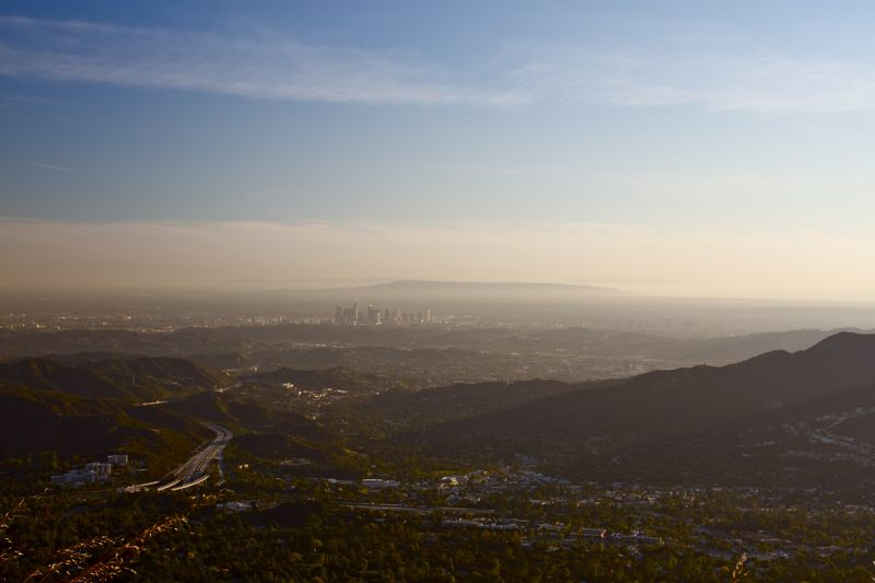 View over Los Angeles and out to sea (Photo: Tim Jones)