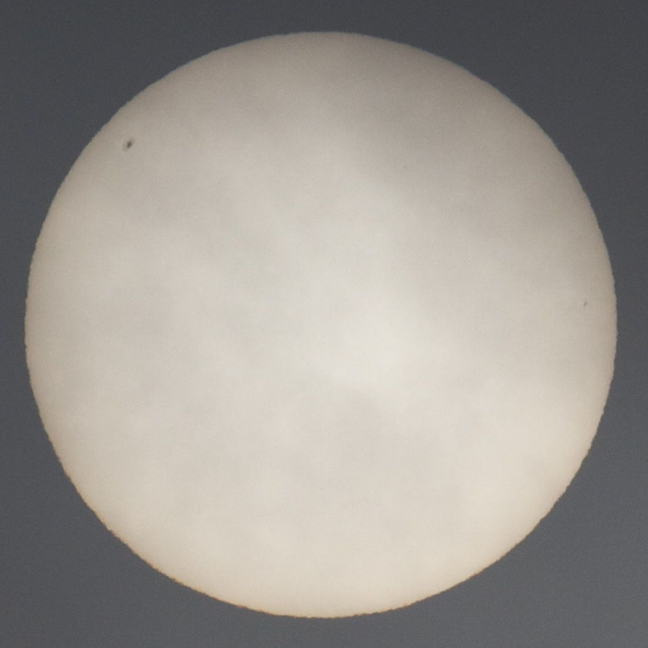 photo of sun showing sunspots