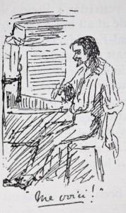 Self-Portrait, Thomas Huxley on H.M.S. Rattlesnake (Huxley's Rattlesnake diary)