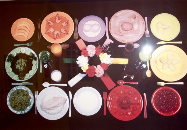 'Chromatic Diet' by Sophie Calle. At Treat Yourself exhibition, Wellcome/Science Museum 2003 (Photo: Tim Jones)