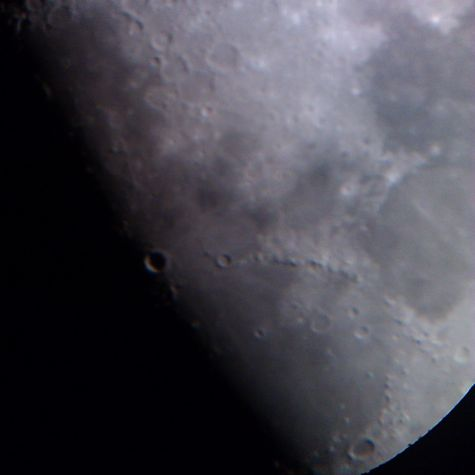 Moon taken with smartphone through ETX-90