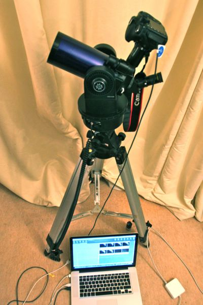 ETX-90 set up for astrophotography