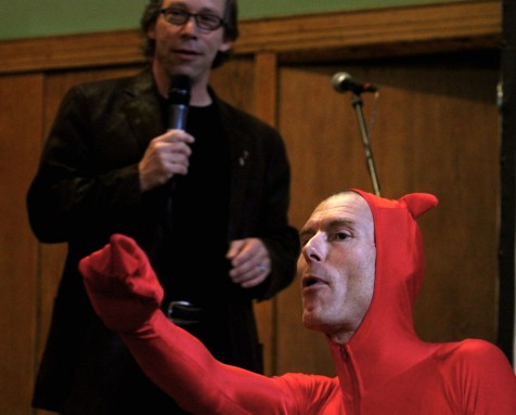 Lawrence Krauss and the Devil. Photo by Tim Jones