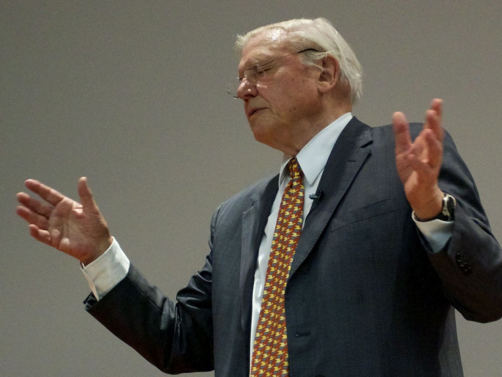 David Attenborough at the Darwin Lecture 2011 Photo by Tim Jones