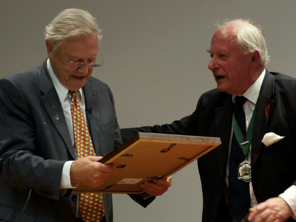 David Attenborough and Vaughan Southgate at the Darwin Lecture 2011 Photo by Tim Jones