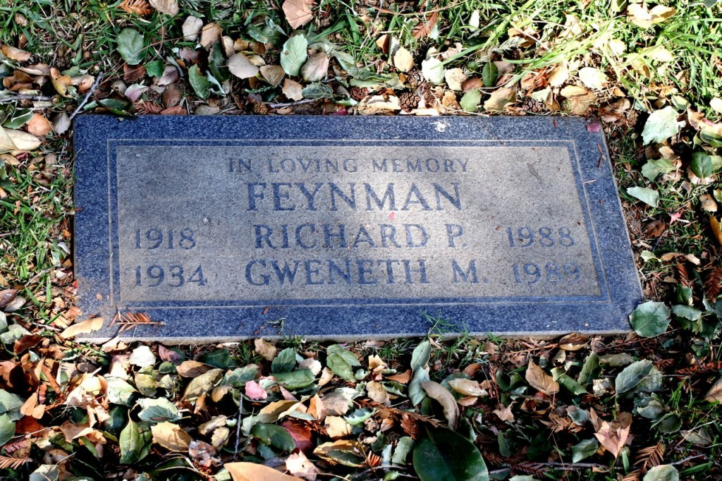 Richard Feynman's Grave at Mountain View Cemetery (Photo:Tim Jones)