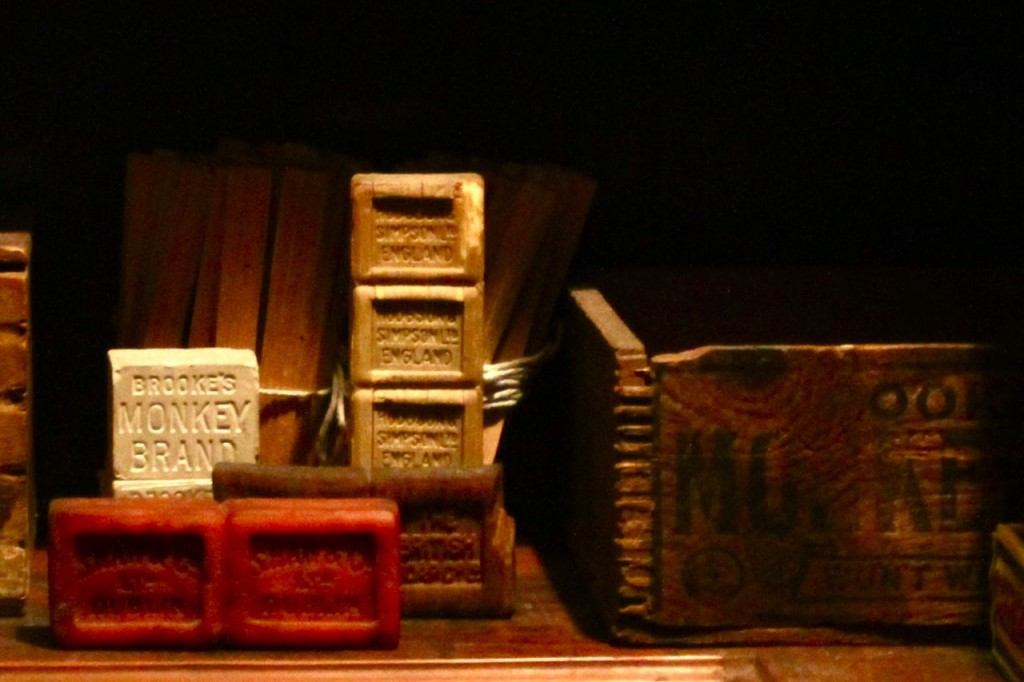 Monkey Brand Soap at the Museum of London Photo: Tim Jones