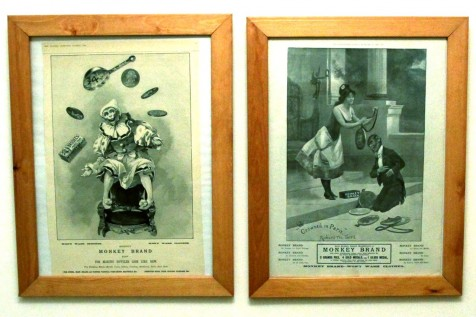 Monkey Brand Adverts from The Graphic and London Illustrated News