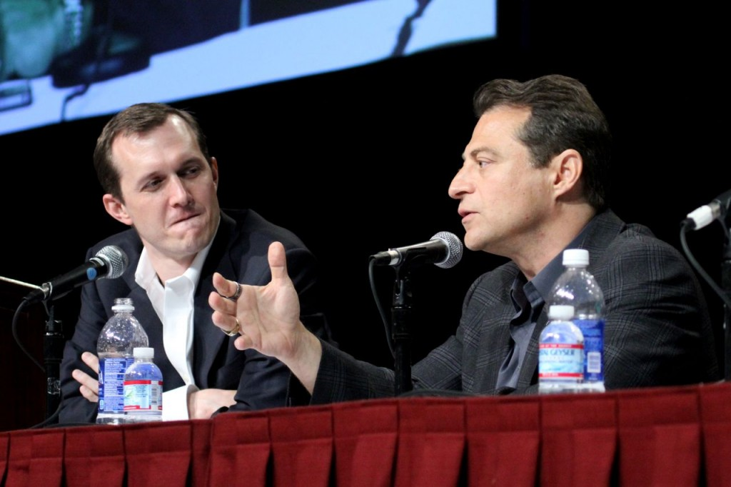 George Whitesides (left) and Peter Diamantis (Photo: Tim Jones)