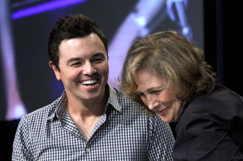 Seth MacFarlane and Ann Druyan (Photo: Tim Jones)