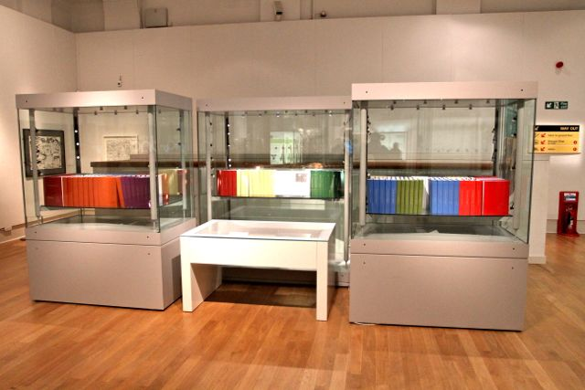 130 Volume Hard Copy of the Human Genome (Photo:Tim Jones at New Walk Museum, Leicester)