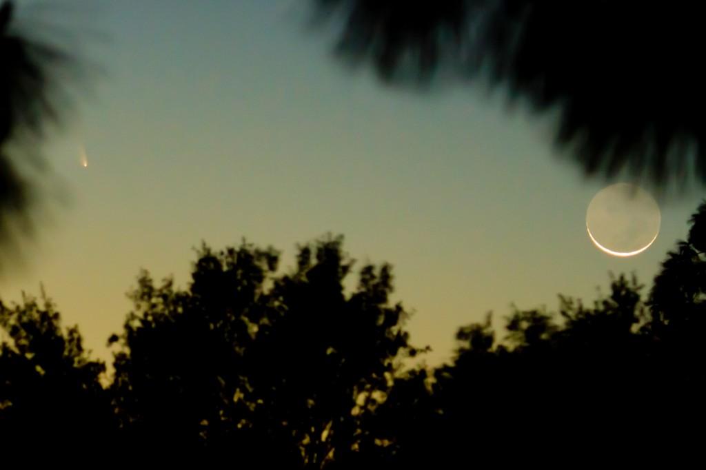 Comet PANSTARRS C/2011 L4 12/03/2013 19:30-20:00 PST Los Angeles, Canon 7D 100-400mm L ©Tim Jones