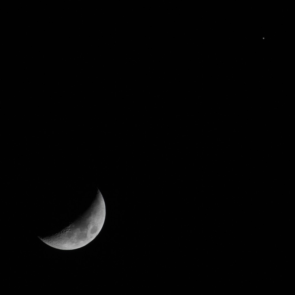 Jupiter Conjunction with Moon, 17/03/2013 19:15 PST, Los Angeles ©Tim Jones