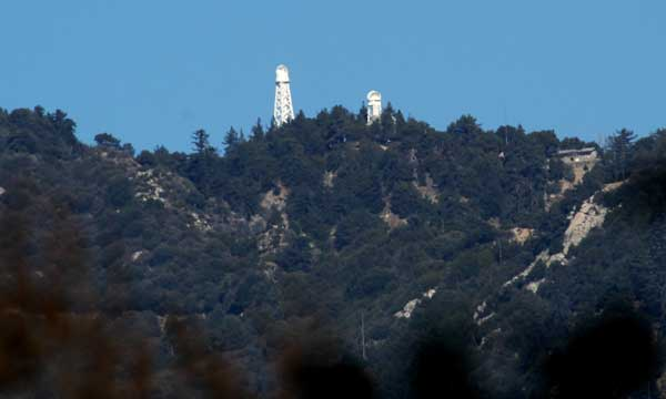 60-footSolar telescopes on Mount Wilson, viewed from Pasadena ©Tim Jones