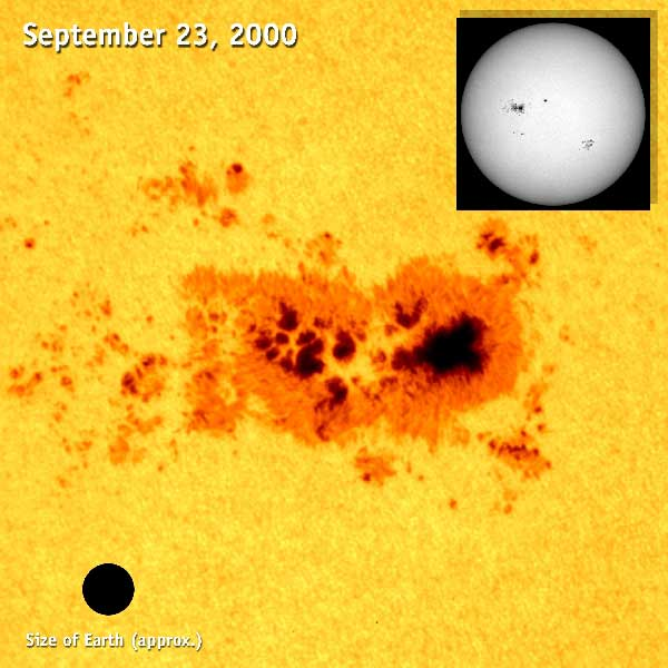Hale discovered the Sun's magnetic field, and its association with sunspots. SOHO (ESA & NASA)