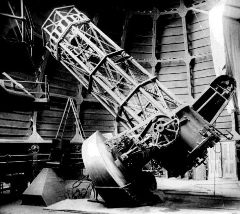 60-inch (1908) reflector on Mount Wilson. Credit: Caltech Astronomy.
